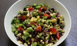 Corn, Black Bean, Edamame Salad with Lime Dressing Recipe