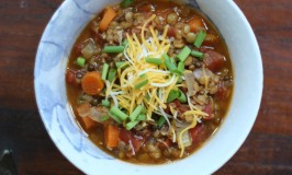 Lentil Stew with Carrots, Celery and Tomatoes