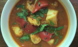 Fish Stew with Red Peppers and Tomatoes Recipe